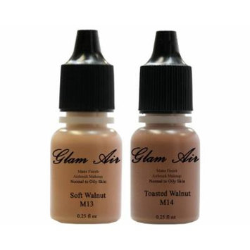 Glam Air Airbrush Water-based Foundation in Set of 2 Assorted Dark Matte Shades (For Normal to Oily Dark Skin)