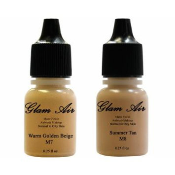 Glam Air Airbrush Water-based Foundation in Set of 2 Assorted Medium Matte Shades (For Normal to Oily Medium Skin)