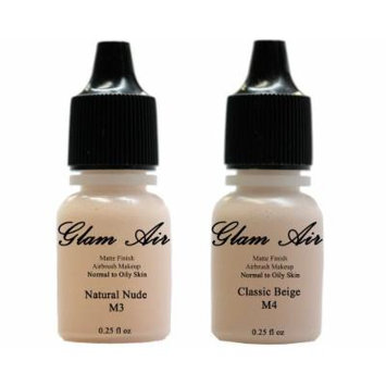 Glam Air Airbrush Water-based Foundation in Set of 2 Assorted Light Matte Shades (For Normal to Oily Light/Fair Skin)