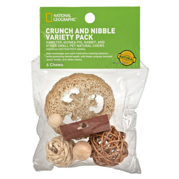 National Geographic, Crunch and Nibble Variety Pack Small Animal Accessory size: Small, Brown