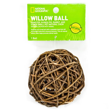 National Geographic, Willow Ball Small Animal Toy size: Small, Brown
