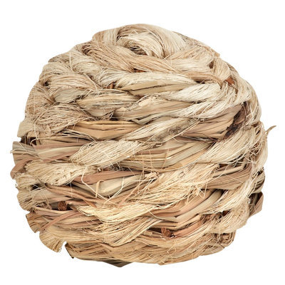 National Geographic, Sisal Ball Small Animal Toy size: Small, Brown
