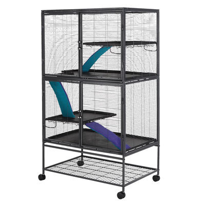 All Living Things® Multi-Level Small Animal Cage size: Small, Black