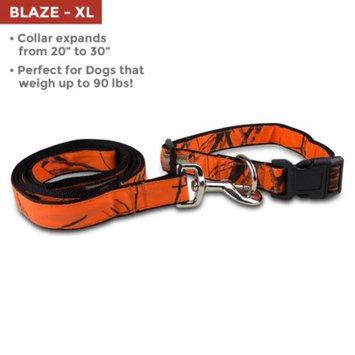 Mossy Oak Collar & Lead Set, Blaze, X-Large