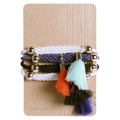 La-ta-da Global tassel hair ties - 4 pk, Multi-Colored