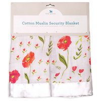Little Unicorn Cotton Muslin Summer Poppy 2 Pack Security Blanket