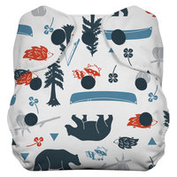 Thirsties Natural All-in-One Snap Diaper, Newborn - Adventure Trail