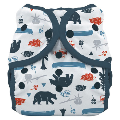 Thirsties Snap Duo Wrap Diaper, Size Two - Adventure Trail