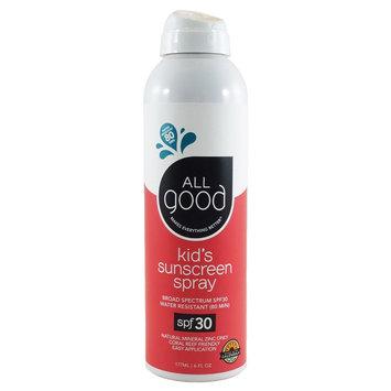 All Good Sunscreen Spray Kids 30 SPF Elemental Herbs 6 oz Spray