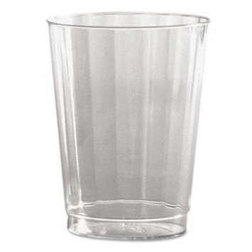WNA CC10240 Classic Crystal Plastic Tumblers, 10 oz, Clear, Fluted, Tall, 12 Per Pack (Case of 20 Packs)