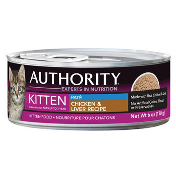 Authority Pate Chicken and Liver Kitten Canned Cat Food