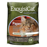 ExquisiCat® Naturals Paper Cat Litter - Natural, Fragrance Free size: 25 Lb