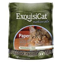 ExquisiCat® Naturals Paper Cat Litter - Natural, Fragrance Free size: 12 Lb
