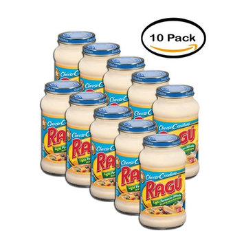 PACK OF 10 - Ragú Cheese Creations Light Parmesan Alfredo Pasta Sauce 16 oz.