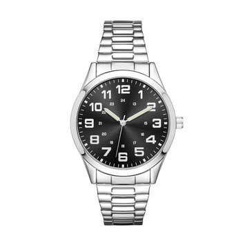Men's Silver Expansion Band Watch