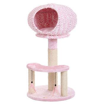 PetPals Strength Cat Tree, Pink & Tan