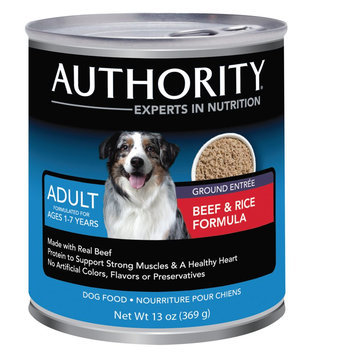 Authority® Ground Adult Dog Food size: 13 Oz