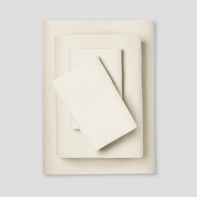 Flannel Sheet Set Twin Sour Cream - Threshold