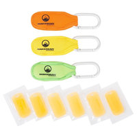 3pk Mosquito Repellent Belt Clips - Orange, Yellow, Green - Wakeman