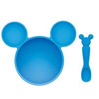 Bumkins Disney First Feeding Set - Mickey, Blue