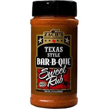 Zach's Rub 11.5oz Bottle (Pack of 3) (Texas Style Bar-B-Que Sweet Rub)