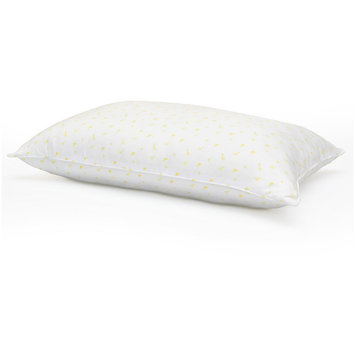 Bed Pillow Laura Ashley White Jumbo, White & Yellow