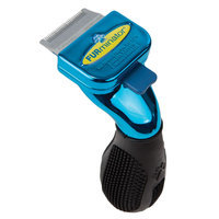 FURminator® deShedding Metallic Collection Short Hair Dog Tool size: X Small, Blue