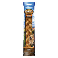 Dentley's® Nature's Chews Bully Flavor Large Breed Braided Esophagus Dog Treat size: 1 Count