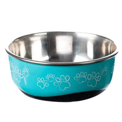 Whisker City® Hybrid Paw Print Cat Bowl, Blue