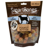 SmartBones® Mini Chews Dog Treat - Peanut Butter size: 32 Count