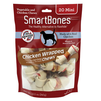 SmartBones® Chicken Wrapped Mini Chews Dog Treat - Chicken size: 20 Count