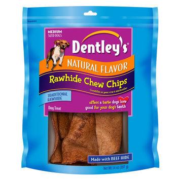 Dentley's® NaturalFlavor Medium Breed Rawhide Chew Chips Dog Treat size: 14 Oz