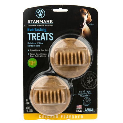 Starmark Everlasting Treats Dog Toy Treat Insert Chicken Flavor