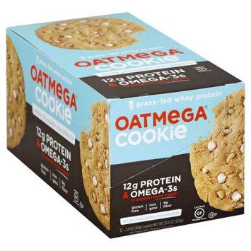 Oatmega Grass Fed Whey Protein Cookie White Chocolate Macadamia - 12Ct