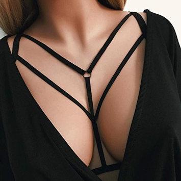 Sexy Women Lingerie,Bokeley Harness Bra Elastic Cage Bra Hollow Bandage Strappy Halter Bra VF