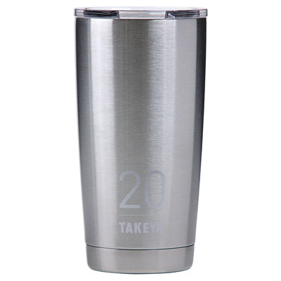 Takeya Originals 20oz Insulated Stainless Steel Tumbler with Sip Lid - Steel, Silver