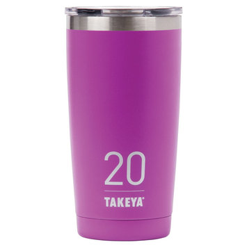Takeya Originals 20oz Insulated Stainless Steel Tumbler with Sip Lid - Purple