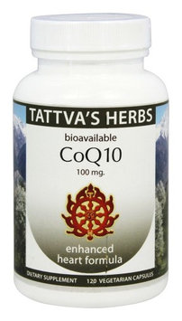 Tattva's Herbs - Organic CoQ10 Enhanced Heart Formula - 120 Vegetarian Capsules