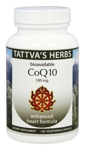 Tattva's Herbs - Organic CoQ10 Enhanced Heart Formula - 120 Vegetarian Capsules