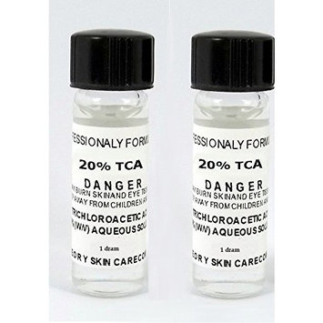 Trichloroacetic Acid TCA 20% Chemical Peel, 2-1 Dram Bottles Trichloroacetic Acid