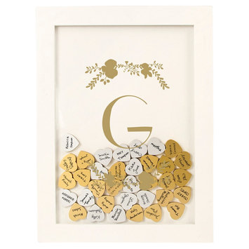 Cathys Concepts Gold Floral Guestbook Dropbox - G, White - G
