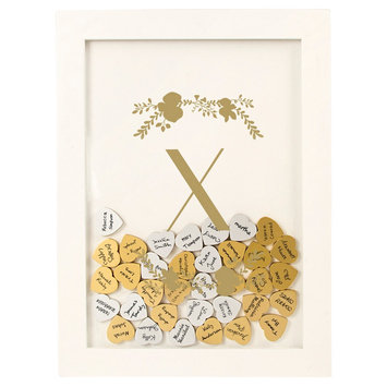 Cathys Concepts Gold Floral Guestbook Dropbox - X, White - X