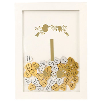 Cathys Concepts Gold Floral Guestbook Dropbox - I, White - I