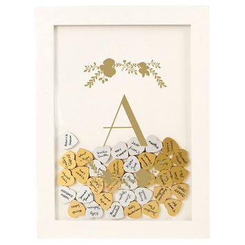 Cathys Concepts Gold Floral Guestbook Dropbox - A, White - A