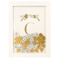 Cathys Concepts Gold Floral Guestbook Dropbox - C, White - C