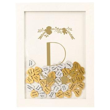 Cathys Concepts Gold Floral Guestbook Dropbox - D, White - D