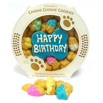 Claudia's Canine Cuisine Blue Birthday Cookie Dog Treat, Claudia's Cuisine
