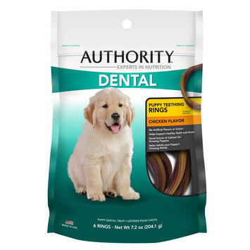 Authority® Dental Puppy Teething Rings Dog Treat size: 6 Count