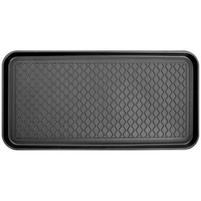 Berrnour Home 15 in. x 30 in. Multi-Purpose Utility Boot Tray, Black