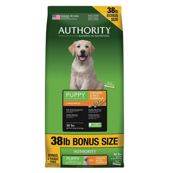 Authority® Large Breed Puppy Food - Chicken size: 38 Lb Bonus Bag